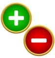 Positive and negative buttons vector image vector image