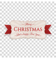 realistic greeting merry christmas banner vector image vector image