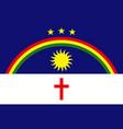 republic pernambuco flag in proportions vector image vector image
