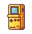 retro brick game electronic console vector image