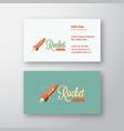 retro rocket abstract sign or logo