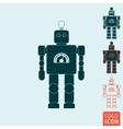 Robot icon isolated vector image