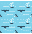 seamless pattern with whale fins over the water vector image vector image