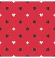 Seamless poker pattern vector image vector image