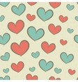 Seamless retro pattern with hearts vector image vector image