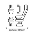 seat belt linear icon vector image vector image