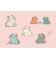 Set of cartoon characters cats vector image vector image