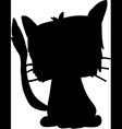 silhouette of a black cat vector image vector image