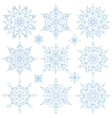 Snowflakes setChristmasNew yearWinter lace vector image vector image