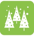 Snowing in trees vector image