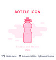 sport bottle icon isolated on white vector image