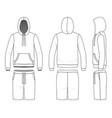 sweatshirt and shorts vector image vector image