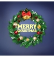 Traditional Christmas wreath vector image vector image