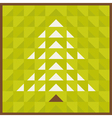 triangular tree vector image vector image