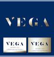 vega logo gold star jewelry emblem business card vector image