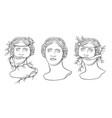venus de milos head de milos head vector image