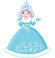 winter princess vector image vector image