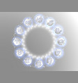 zodiac circle on a white background vector image vector image