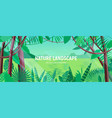 beautiful landscape with green leaves of tropical vector image