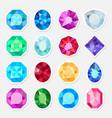 jewels or precious gem stickers set vector image