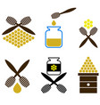 set of honey icon isolated vector image