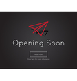 Opening Soon for website template vector image