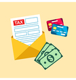 Tax mail bill vector image