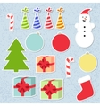 Set of christmas stickers vector image