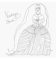 vintage bride vector image