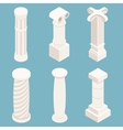 3d isometric columns vector image