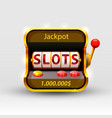 3d slots machine wins the jackpot vector image vector image