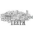 a close look at wisdom teeth text word cloud vector image vector image