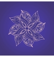 Abstract floral pattern against purple background vector image vector image
