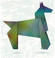 Abstract horse paper origami vector image vector image