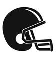 american football helmet icon simple style vector image