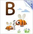 Animal alphabet for the kids B for the Bee vector image vector image