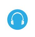 audio headphones icon flat vector image