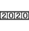 banner 2020 happy new year retro style photo film vector image vector image