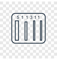 barcode concept linear icon isolated on vector image