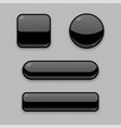 black buttons 3d web icons on gray background vector image vector image