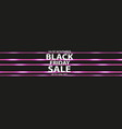 black friday speed iconr on the black background vector image