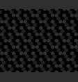 black hexagon geometric pattern vector image