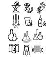 black outline sketch icons medicine or drugs vector image