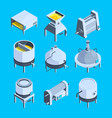 brewery isometric plant for production of vector image vector image