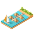 Bungalow Isometric vector image