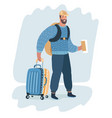 business man carrying a luggage vector image vector image