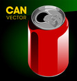 can vector image vector image