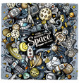 cartoon doodles space vector image vector image