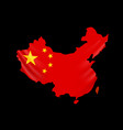 china flag in form map people republic of vector image vector image