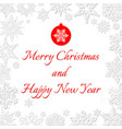 christmas and new year snowflakes postcard vector image vector image